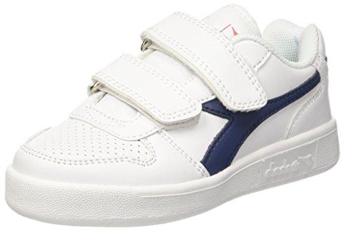 Diadora playground ps, sneaker bambino, bianco (bianco blu estate), 32 eu