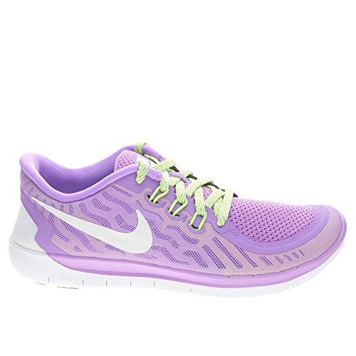 Nike Unisex-Erwachsene Free 5.0 (Gs) Krabbelschuhe, Violett (Flieder/weiß), 38.5 EU