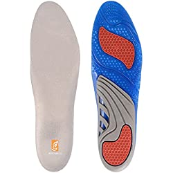 sessom & Co Gel Comfort Masaje Plantillas con soporte de arco para caminar y correr, plantillas ortopédicas absorción de golpes para hombres y mujeres UK Men's: 8-12