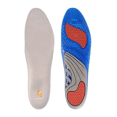 Gel-Einlegesohle von Sessom & Co, orthopädische Einlage zur Stoßdämpfung, Fersen- und Knie-Schutz, Schmerzlinderung im Fuß und der Ferse bei Plantarfasziitis UK Women's: 6-9 (Schuh-frisch-einsätze)