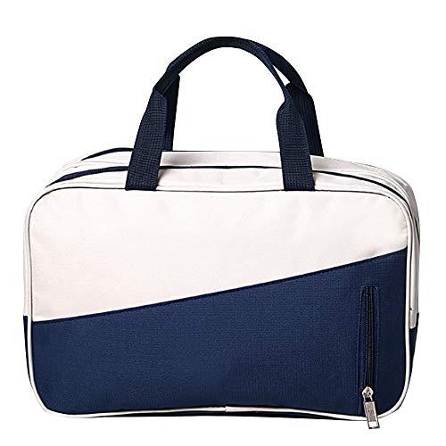 Strandtasche Sport Gym Tasche Reisetasche mit Vielen Fächern, Tragegurt Kompatibel Fitness, Sport und Reisen Sporttaschen mit Designs Geeignet für die Lagerung im Freien (Color : Blau) -
