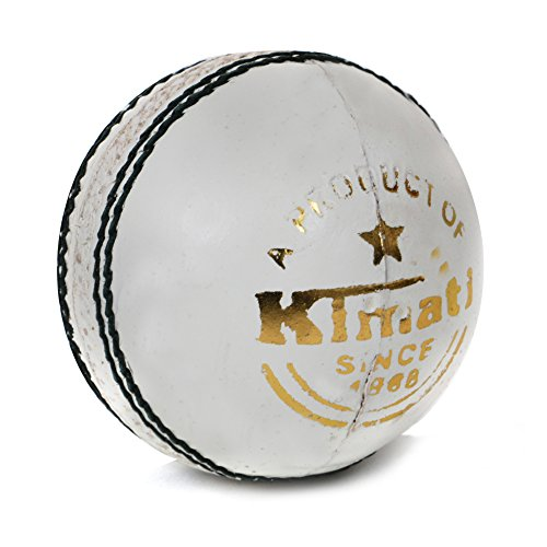 Kimati-Leather-Cricket-Ball-White