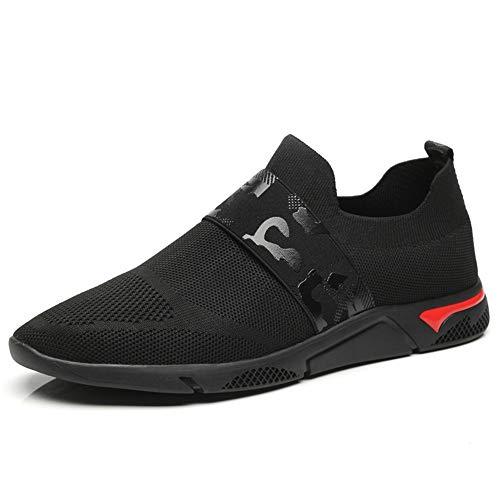 HILOTU Herrenmode Sneakers Casual Frische Atmungsaktive Leichte Und Flexible Outdoor-Sportschuhe Weiche Wanderschuhe (Color : Schwarz-Weiss, Größe : 42 EU) Top 10 Herren Schuhe