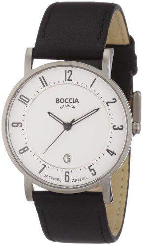 Boccia Herrenuhr Analog Quarz mit Lederarmband – 3533-03 Boccia Uhren