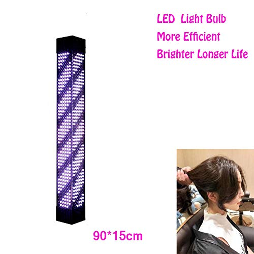YOLE Barber Pole Led Light,barbierstab Leuchtende Friseur Salon Licht Schild Friseur Pole Rot Grün gelb Blaue Streifen Wasserdichte Wandleuchte 120cm/47in,B,90cm/35in