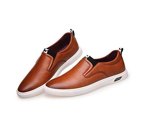 neue Männer 's Business Casual Schuhe echtes Leder flache Schuhe große Größe Schuhe Yellow