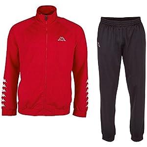 Kappa Herren Jogginsanzug Till, klassischer Trainingsanzug bestehend aus Jacke und Hose, Sportanzug mit Eingriffstaschen, Größe S-XXL