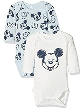 NAME IT Baby-Jungen Nmmmickey Bert Ls Body Wdi Noos, 2er Pack