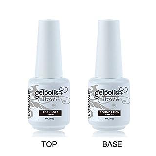 Vishine 2 x 8ml Nail Art UV/LED Lamp Gel Polish Gelpolish Base Top Coat Primer Foundation Long-lasting