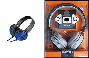 MIRZA EXtra Extra Bass XB450 Headphones & JBL881C Bluetooth Headphones for SAMSUNG GALAXY J1 MINI(Extra Bass XB 450 Headphones,With MIC,Extra Bass,Headset,Sports Headset,Wired Headset & JBL881C Bluetooth Headphones)