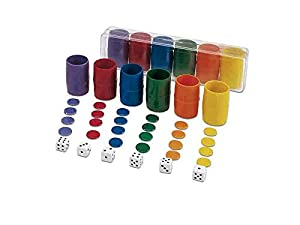 Cayro - Estuche de accesorios para juego de parchís, 6 jugadores