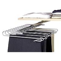 Wenko Colgador de armario extraíble para Pantalones, Chrom, Silver