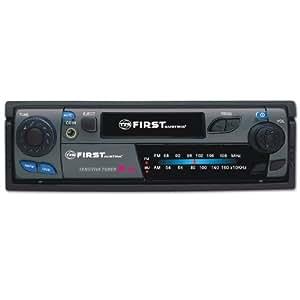 First Austria 004032–2Autoradio avec Tuner FM/AM, cassette Lecteur, aux in, DIN Noir