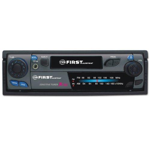 First-Austria-004032-2-Autoradio-mit-FMAM-Tuner-Kassettenlaufwerk-Aux-IN-DIN-schwarz