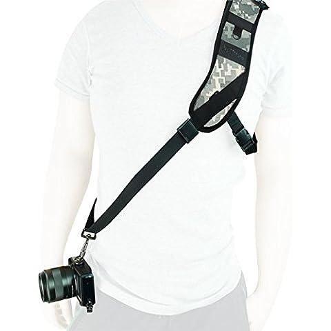 First2savvv XJPJ-KSBB-33 neopreno correa de la cámara solo la honda del hombro de la correa correa para Canon Nikon Sony cámara camuflaje urbano