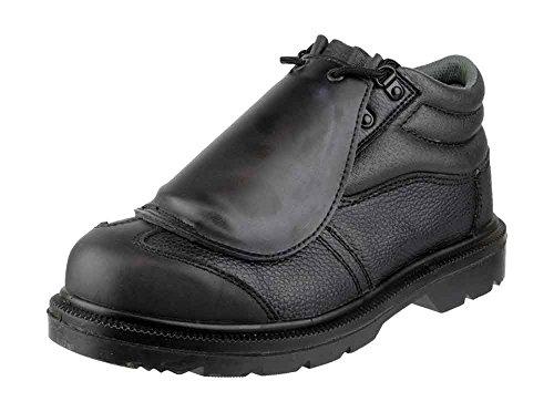 Footsure 333 S3 Hro Métatarsien Sécurité Bottes Noir Hommes Travail, Bottes Cuir Black