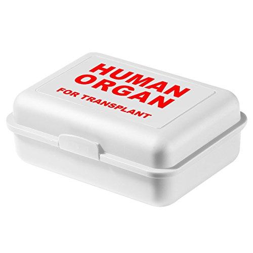 "Lunchbox""Human Organ"" BPA-Freie Brotdose mit Coolem Spruch Vorratsdose in Weiß 13 x 6,5 x 17,5 cm"