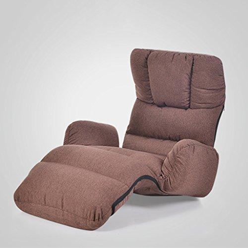 Canapé Lounger unique pliable moderne simple salon chambre balcon loisirs chaise longue 175 * 56cm (Couleur : Café couleur)