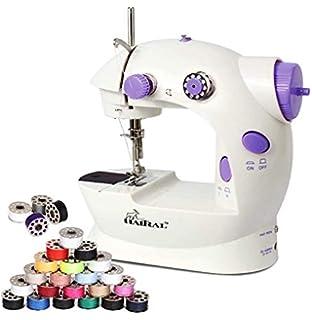 Pink HEOMU N/ähmaschine Tragbar Sewing Machine mit Licht und Fu/ßpedal Geschwindigkeit einstellbar
