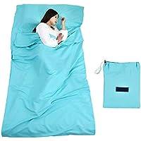 Ultraligero Impermeable Bolsa de dormir-100% poliéster Ligero Cómodo 220x115cm Forro Koja de Dormir
