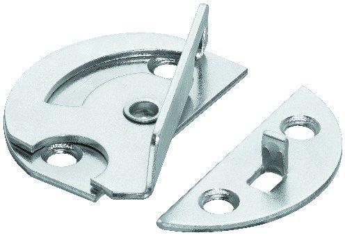 Edelstahl 4 Lamellen (4 Stück GedoTec® Möbel-Drehriegel Tischbeschlag für Zargentische | Möbelriegel Stahl verzinkt | Dreh-Verriegelung zum Einbohren oder Anschrauben | Markenqualität für Ihren Wohnbereich)