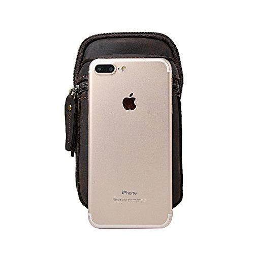 Genda 2Archer Cintura di pelle Marsupio Phone Pouch Borsa per uomo (KZ6546) KZ6546