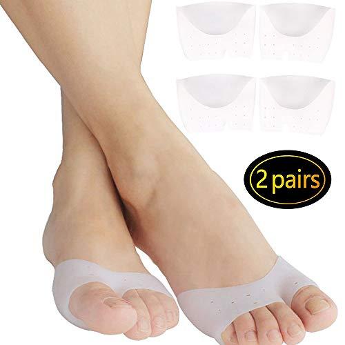 2 pares de almohadillas de pie para cojines de metatarsianos alivio del dolor. Almohadilla de soporte de pies de gel de silicona para el neuroma de Morton, fascitis plantar y metatarsalgia.