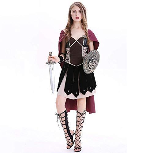 Kostüm Freundin Krieger's - YyiHan Halloween Kostüm, Medieval spartanischer Krieger römische Krieger Kostüm Uniform Versuchung Cosplay Makeup Halloween-Partei-Kostüm Stage Performance Kostüm