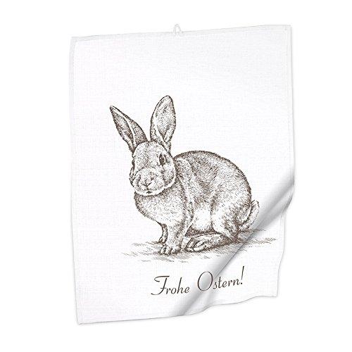 Colour-Bags Home & Living 1x Geschirrhandtuch Design Frohe Ostern | Größe 50 x 65 cm | 100% Baumwolle | Küchentuch | Geschirrtuch | Geschenke | Spültuch | Textilien