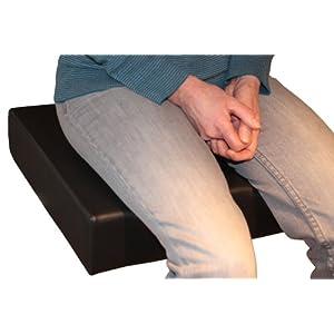 LUplus XL Orthopädische Sitzerhöhung 43x43x Höhe 10 cm Skai schwarz