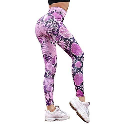YpingLonk Frauen Fitness Schlange Nähen Hip Yoga Hosen Sport Fitness Hosen Sexy Hip Pants Serpentine Leggings mit hoher Taille Serpentine Women Yoga Pants Mesh Leather Leggins -