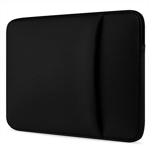 Ivencase® 13-13.3 Zoll weiches Neopren Hülle Sleeve Laptoptasche, Schutzhülle Tasche mit dem Reißverschluss für 13 Zoll MacBook Air / Pro / Pro Retina und 13-13,3 Zoll Laptop / Notebook Computer / Ultrabook - schwarz