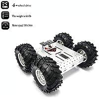 4WD Robot Chassis Kit Smart Off-Road Car Kit Robot Coche Aleación de Aluminio Chasis