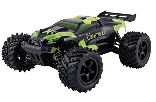Overmax X-Monster 3.0 Monster Truck ferngesteuertes RC Auto - unglaubliche 45 km/h schnell - 1:18 Maßstab - 2 Akkus - Allrad - 100m Reichweite- Buggy