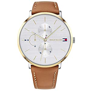 Tommy Hilfiger Womens Multi dial Quartz Watch with Leather Strap 1781947