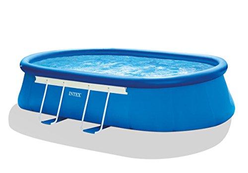 Intex Aufstellpool Oval Frame Pool Set, Blau, 549 x 305 x 107 cm - 2