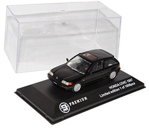 honda-civic-3-turer-schwarz-1987-1991-limitiert-1-von-1008-triple-9-1-43-ixo-modell-auto