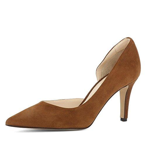 Evita Shoes Jessica Damen Pumps halboffen Rauleder Dunkelblau 35