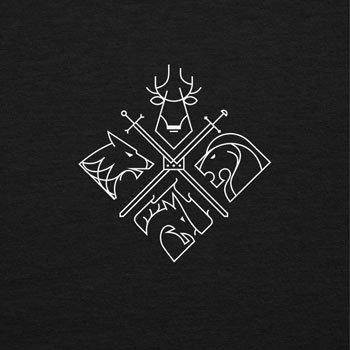 NERDO - GoT Houses Logo - Herren Kapuzenpullover Schwarz