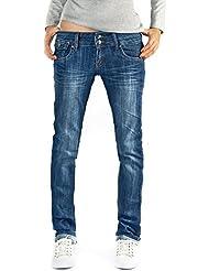 Bestyledberlin pantalon en jean pour femmes, jean à taille basse j27ab