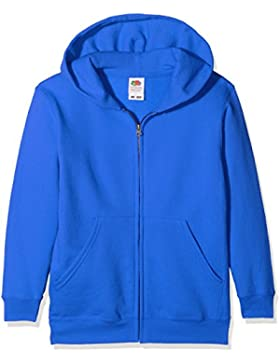 Fruit of the Loom Classic Hooded Sweat Jacket Kids, Sudadera con Capucha para Niños