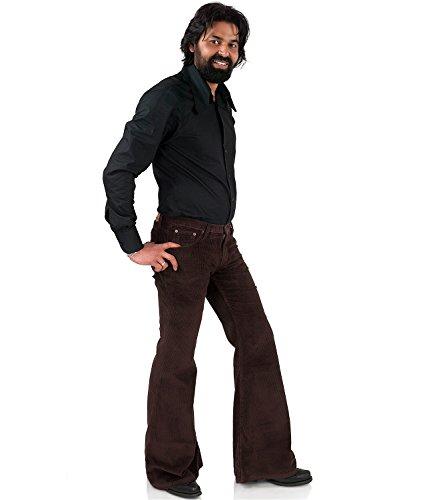 Breitcord Schlaghose Braun 70er Jahre Hippie Look Braun