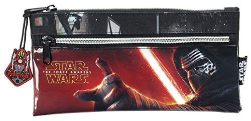 Star Wars – Portatodo con Dos Cremalleras, 22 x 11 cm (Safta 811545029)