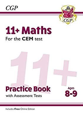 New 11+ CEM Maths Practice Book & Assessment Tests - Ages 8-9 (with Online Edition) (CGP 11+ CEM) from Coordination Group Publications Ltd (CGP)