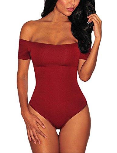 Lrud Fashion Damen Jumpsuit Bodycon Bodysuit Langarm Unterwäsche Stehkragen Outfit Bandage Netzeinsatz Top Overalls Bodys (Trikot Top)