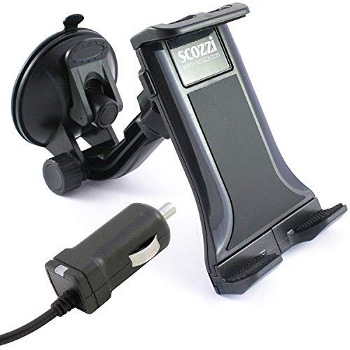 scozzi universal KFZ Handy Halterung + USB TYP C Schnell Ladekabel mit 2400mAh, Handyhalter Handyhalterung Auto Halter LKW PKW Smartphone Autohalter Autohalterung Windschutzscheibe Ladegerät Saugnapf