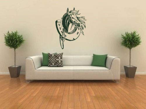 HNXDPKinderzimmer Kunst DekorWandaufkleberVinyl Hufeisen Wandbild Removable Home Dekorative Tapete 40x54 cm