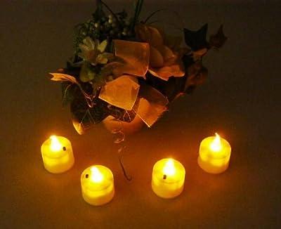 4 LED Teelicht Kerze Flamme ausblasbar + flackernd elektrisch ausblasen auspusten Sensor von MQ-Power - Lampenhans.de