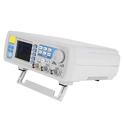 Signalgenerator, Neuer verbesserter AC100-240V FY6800 Zweikanal-DDS-Funktionsimpuls/Arbitrary Waveform Generator, 2,4-Zoll-Bildschirmanzeige Hochpräzises Frequenzmessgerät(60MHz EU-Stecker) -