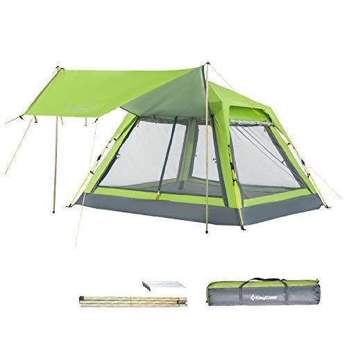 KingCamp Quick Up 3-4Personen Bildschirm House Freizeit Zelt, befestigt mit Dach für Strand Camping, Jungen unisex Mädchen Herren damen, grün